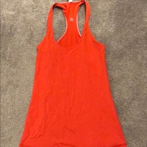 Orange lululemon workout tank